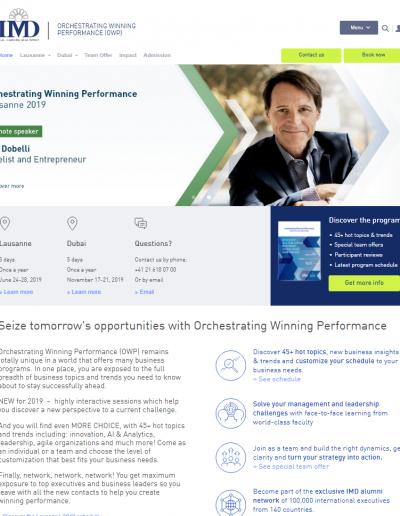 Sistema de gestión de la web en IMD